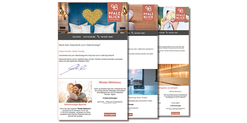 Newsletter Pfalzblick WALD SPA RESORT